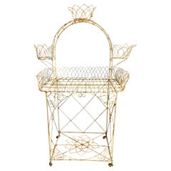 Painted Wire Victorian Plant Stand