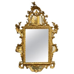 18th Century Carved and Gilded Venetian Mirror