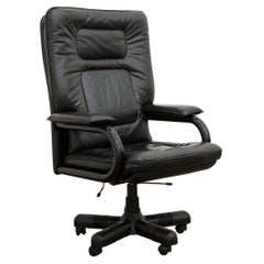 'Big' by Guido Faleschini for Mariani Executive Leather Desk Chair 1980s, Signed