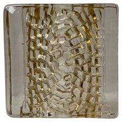 Scandinavian Brutalist Glass Block Sculpture, 1970s