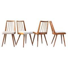 German 50ties Mid Century Dining Chair Set of 4