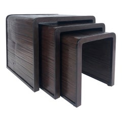 McGuire San Francisco Bamboo Set of Nesting Tables