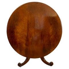 Quality Antique Victorian Figured Mahogany Circular Centre Table