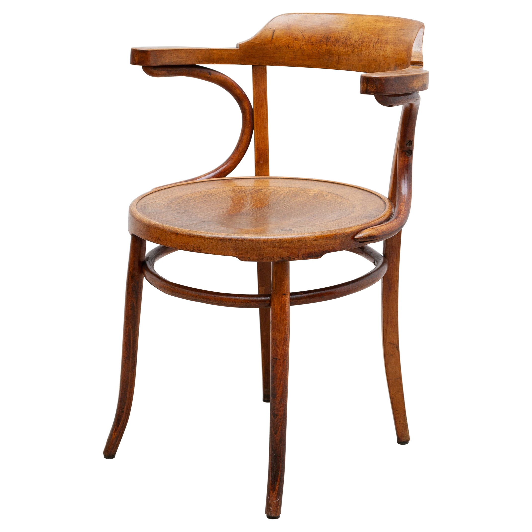 Iconic Thonet Chair Designed by Gebrüder Thonet Company