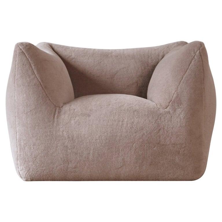 Mario Bellini Le Bambole Lounge Chair, Upholstered in Alpaca, B&B Italia, 1970s For Sale