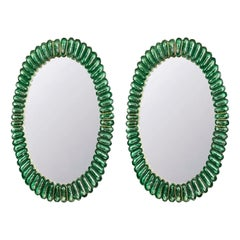 Pair of Vintage Mirror in Murano Glass