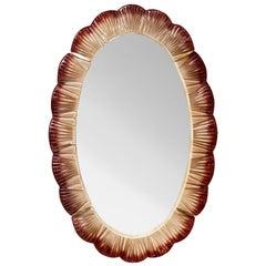 Oval Mirror with Murano Glass by Studio Glustin.