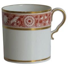 Georgian Spode Coffee Can Porcelain Floral Leaf Gilded Pattern, circa 1810