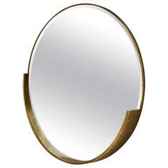 Vintage Round Mirror, 1980s