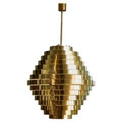 """""""Spiral"""" Chandelier in Brass by Studio Glustin"""