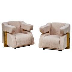 Brass Armchairs by Studio Glustin