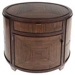 Vintage McGuire San Francisco Bamboo Drum Side Table or Night Stand