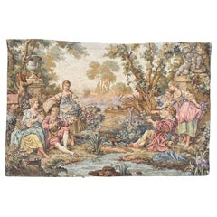 Pretty Vintage French Jaquar Tapestry