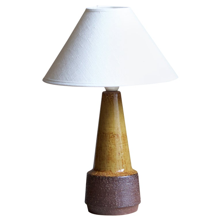Michael Andersen, Table Lamp, Glazed Stoneware, Bornholm, Denmark, 1960s For Sale