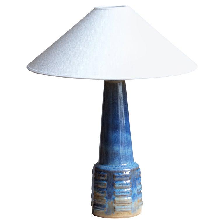 Michael Andersen, Table Lamp, Glazed Stoneware, Bornholm, Denmark, 1960s
