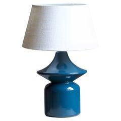 Hasle Keramik, Table Lamp, Glazed Stoneware, Bornholm, Denmark, 1960s