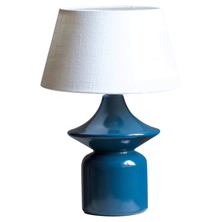 Hasle Keramik, Table Lamp, Glazed Stoneware, Bornholm, Denmark, 1960s For Sale