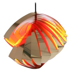 Danish Konkylie Space Age Pendant Lamp by Louis Wiesdorf, 1962