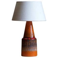 Tilgmans, Table Lamp, Glazed Stoneware, Sweden, 1950s