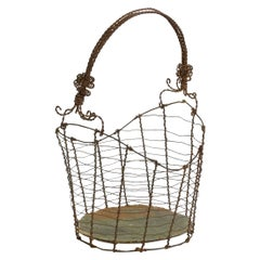 19th Century Italian Wirework Basket