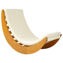 """Danish Blond Wood """"Relaxer"""" Rocking Chair by Vernor Panton for Rosenthal, 1970s"""