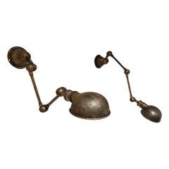 Pair of Industrial Jielde Style Lamps, 1970s