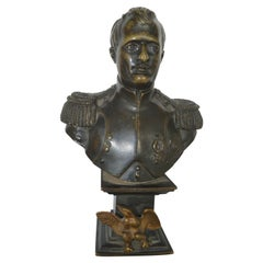 Small Patinated Bronze Bust of Napoleon