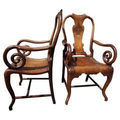 19th Century Fine Hand-Carved Rosewood Chinese Mahjong Chairs