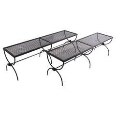 Extra Long Wrought Iron Garden Patio Bench by Salterini 2 Available