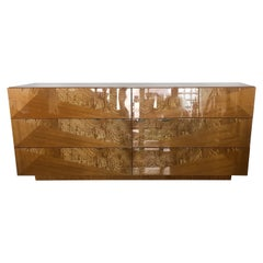 Giorgio Collection Exotic Wood Dresser in High Gloss Finish