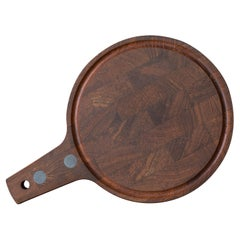 Mid Century Digsmed Teak Charcuterie and Cheese Board Serving Tray