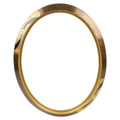French Art Deco Gilded Wood Ovoid Frame for Painting, Drawing or Mirror