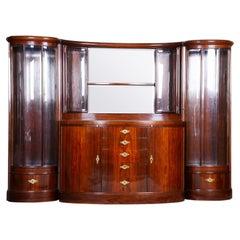 Unique Czech Art Deco Secretary/Writing Desk, Rosewood 1920-1929