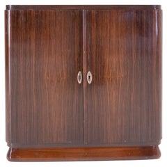 Art Deco Vinyl Records Storage Decca Cabinet, Removable Shelves, France, c. 1970