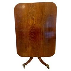 Quality Antique Regency Mahogany Breakfast Table