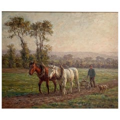 """Planquette Félix """"The Ploughing"""" Panel"""