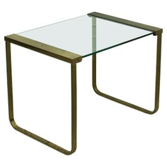 Mid Century Hollywood Regency Coffee Table Brass and Glass, Italy, 1970s