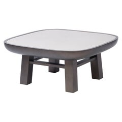 Contemporary Leather Coffee Table, Olympia, Stephane Parmentier for Giobagnara