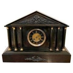 Antique Victorian Marble Mantel Clock
