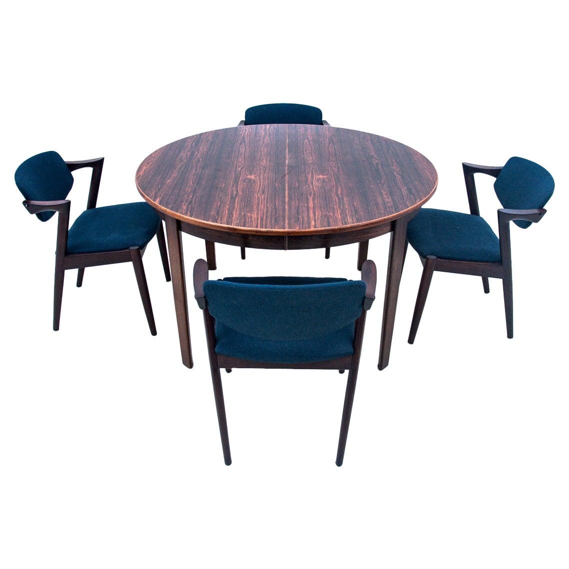 Dining Set, Designed by Kai Kristiansen, Danish Design, 1960s