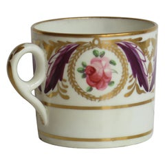 George 111 Minton Porcelain Coffee Can Hand Painted in Pattern 791, Ca 1805