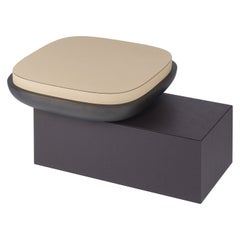 Leather Stool & Table, Olympia by Stephane Parmentier for Giobagnara