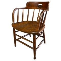 Joe Quinn 1927 Oak Captain's Armchair