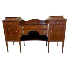 Quality 19th Century Mahogany Inlaid Marquetry Sideboard by Hewetsons, London