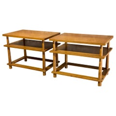 T.H. Robsjohn Gibbings for Widdicomb Tiered End Tables, a Pair
