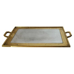 Bronze and Mixed Metals Serving Tray by David Marshall, Spain, Late 1970s
