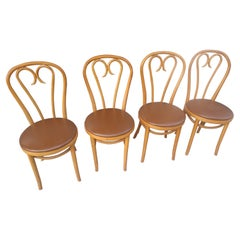 Set of Four Thonet Bentwood Cafe Dining Chairs Romania