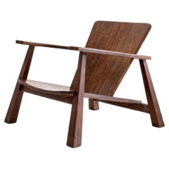 French, Modernistic Garden Lounge Chair, ca. 1950s