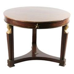 Mahogany Empire Gueridon Table