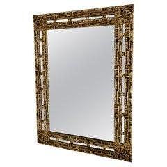 Bronze Mirror by Luciano Frigerio, 1960s